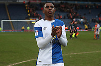 Blackburn Rovers' Amari'i Bell celebrate at the end of todays match<br /> <br /> <br /> Photographer Rachel Holborn/CameraSport<br /> <br /> The EFL Sky Bet League One - Blackburn Rovers v Blackpool - Saturday 10th March 2018 - Ewood Park - Blackburn<br /> <br /> World Copyright &copy; 2018 CameraSport. All rights reserved. 43 Linden Ave. Countesthorpe. Leicester. England. LE8 5PG - Tel: +44 (0) 116 277 4147 - admin@camerasport.com - www.camerasport.com