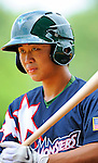 3 July 2011: Vermont Lake Monsters infielder Chih Fang Pan prepares to face the Tri-City ValleyCats at Centennial Field in Burlington, Vermont. The Lake Monsters rallied from a 6-3 deficit, scoring 4 runs in the bottom of the 9th, to defeat the ValletCats 7-6 in NY Penn League action. Mandatory Credit: Ed Wolfstein Photo