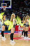 Real Madrid's cheerleaders performance during the first match of the playoff at Barclaycard Center in Madrid. May 27, 2016. (ALTERPHOTOS/BorjaB.Hojas)