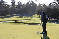 Steve Stricker (USA) putts on the 1st green during Thursday's Round 1 of the 2018 AT&amp;T Pebble Beach Pro-Am, held over 3 courses Pebble Beach, Spyglass Hill and Monterey, California, USA. 8th February 2018.<br /> Picture: Eoin Clarke | Golffile<br /> <br /> <br /> All photos usage must carry mandatory copyright credit (&copy; Golffile | Eoin Clarke)