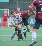 AMSTELVEEN - Fergus Kavanagh (Adam) tijdens de hoofdklasse competitiewedstrijd mannen, Amsterdam-HCKC (1-0).  COPYRIGHT KOEN SUYK