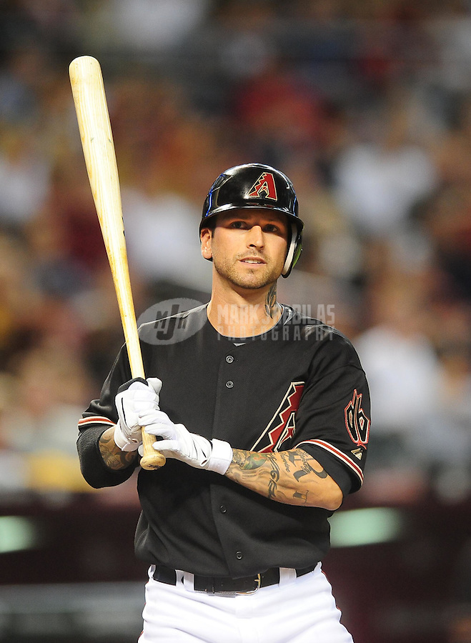 Apr. 11, 2009; Phoenix, AZ, USA; Arizona Diamondbacks infielder Ryan Roberts against the Los Angeles Dodgers at Chase Field. Mandatory Credit: Mark J. Rebilas-
