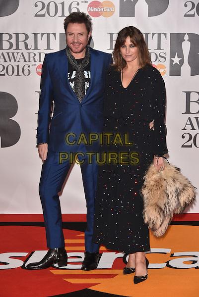 LONDON, ENGLAND - FEBRUARY 24: Simon Le Bon &amp; Yasmin Le Bon attends the BRIT Awards 2016 at The O2 Arena on February 24, 2016 in London, England<br /> CAP/PL<br /> &copy;Phil Loftus/Capital Pictures