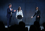 Clive Owen, Julie Taymor and Jin Ha during the Broadway Opening Night performance Curtain Call for 'M. Butterfly' on October 26, 2017 at Cort Theater in New York City.