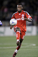Rohan Ricketts. Toronto FC defeated Kansas City Wizards 3-2 at Community America Ballpark, Kansas City, Kansas. March 21, 2009.