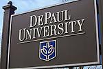 DePaul University - Signs, signage - Lincoln Park Campus.  (DePaul University/Jeff Carrion)
