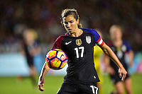 Carson, CA - November 13, 2016: The U.S. Women's National team take a 3-0 lead over Romania in an international friendly game at StubHub Center.