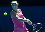 Eugenie Bouchard (CAN) defeats Caroline Garcia (FRA) 7-5, 6-0 at the Australian Open being played at Melbourne Park in Melbourne, Australia on January 23, 2015