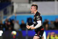 Nick Tompkins of Saracens celebrates his first half try. European Rugby Champions Cup match, between Saracens and the Scarlets on October 22, 2016 at Allianz Park in London, England. Photo by: Patrick Khachfe / JMP