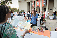 Nora Killian was an intern at Food Forward. Career Services hosts the Summer Experience Expo, where Occidental College student interns from the InternLA program and INT Internship course shared information about the organizations they worked for over the summer. Sept. 7, 2017 at Thorne Hall patio. Employers were also in attendance.<br /> (Photo by Marc Campos, Occidental College Photographer)