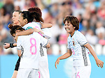 (L-R) Sonoko Chiba, Yuki Ogimi, Mana Iwabuchi (JPN), JUNE 2, 2016 - Football / Soccer : Yuki Ogimi of Japan celebrates after scoring their 2nd goal during the Women's International Friendly match between United States 3-3 Japan at Dick's Sporting Goods Park in Commerce City, Colorado, United States. (Photo by AFLO)