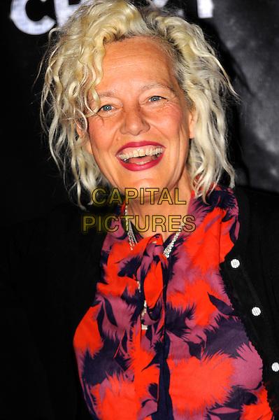 Ellen von Unwerth.Forever Crazy by Crazy Horse VIP Gala Night at South Bank, London, England..September 19th 2012.headshot portrait black red purple print blouse smiling .CAP/CJ.©Chris Joseph/Capital Pictures.