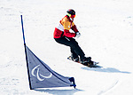 PyeongChang 10/3/2018 - Curt Minard during a snowboard cross training session at the Jeongseon Alpine Centre during the 2018 Winter Paralympic Games in Pyeongchang, Korea. Photo: Dave Holland/Canadian Paralympic Committee