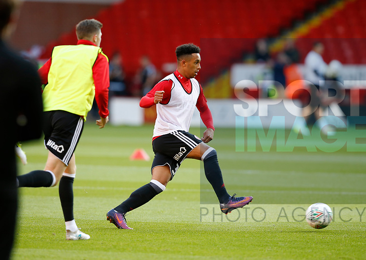 Jake Bennett of Sheffield Utd during the Carabao Cup First Round match at Bramall Lane Stadium, Sheffield. Picture date: August 9th 2017. Pic credit should read: Simon Bellis/Sportimage