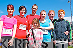 Ballybunion Easter Half Marathon & 10k : pictured at the 5th annual half marathon & 10k runs in Ballubunion on Sautday last were Pauline Lynch, Evelyn O'Connell, Paudie, Helen & Maeve Sanderson & Siobhan & Liam Quilter.