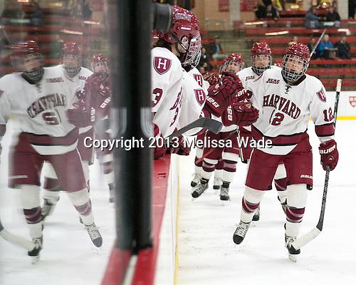 Samantha Reber (Harvard - 12) - The Harvard University Crimson defeated the visiting Boston University Terriers 3-1 on Friday, November 22, 2013, at Bright-Landry Hockey Center in Cambridge, Massachusetts.