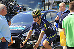Esteban Chaves (COL) Orica-Scott at sign on in Verviers before the start of Stage 3 of the 104th edition of the Tour de France 2017, running 212.5km from Verviers, Belgium to Longwy, France. 3rd July 2017.<br /> Picture: Eoin Clarke | Cyclefile<br /> <br /> <br /> All photos usage must carry mandatory copyright credit (&copy; Cyclefile | Eoin Clarke)