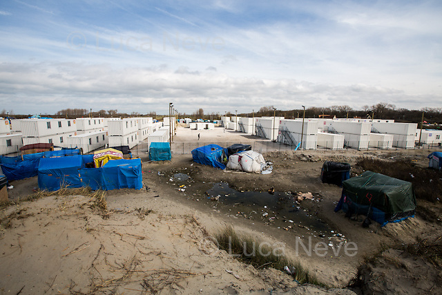 "The containers' ""new camp"" protected by high fences, security guards and finger prints reader at the gate used as the ""key"" to enter.<br />