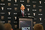 09 December 2016:  MLS Commissioner Don Garber held his annual Major League Soccer State of the League Address and press conference one day before MLS Cup 2016. The address was held in the ballroom at the Intercontinental Hotel in Toronto, Ontario in Canada.