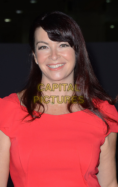 Suzi Perry.The Ideal Home Christmas Show at the Earls Court, London, England..14th November 2012  .headshot portrait red .CAP/WIZ.© Wizard/Capital Pictures.