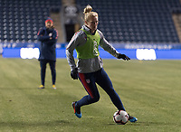 Chester, PA - February 26, 2019:  The USWNT trains in preparation for the SheBelieves Cup opener at Talen Energy Stadium