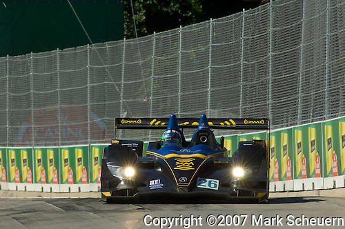 1 August 2007: Marino Franchitti (XSC) drives the Andretti Green Racing Lola ARX-01a Acura at the Detroit Sports Car Challenge presented by Bosch, Detroit, MI
