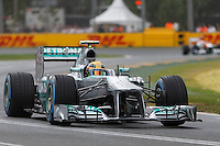 MELBOURNE, 16 MARCH - Nico Rosberg (DEU) from the Mercedes AMG Petronas F1 Team  rounds turn six in free practice session three on day three of the 2013 Formula One Rolex Australian Grand Prix at the Albert Park Circuit in Melbourne, Australia. Photo Sydney Low / syd-low.com