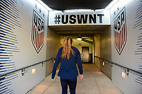 Jacksonville, FL - Thursday April 5, 2018: USWNT during an International friendly match versus the women's National teams of the United States (USA) and Mexico (MEX) at EverBank Field.