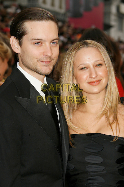 TOBEY MAGUIRE & JENNIFER MEYER.The 79th Annual Academy Awards - Arrivals held at the Kodak Theatre. Hollywood, California, USA,.25 February 2007..oscars red carpet half length black dress couple.CAP/ADM/RE.©Russ Elliot/AdMedia/Capital Pictures.