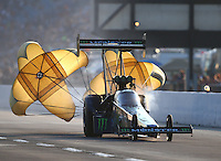 Jul 9, 2016; Joliet, IL, USA; NHRA top fuel driver Brittany Force during qualifying for the Route 66 Nationals at Route 66 Raceway. Mandatory Credit: Mark J. Rebilas-USA TODAY Sports