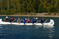 Fort Langley Canoe Club Canoe Races, Fort Langley Cranberry Festival, Fort Langley B.C.