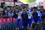 Quick-Step Floors at the Team Presentation in Alghero, Sardinia for the 100th edition of the Giro d'Italia 2017, Sardinia, Italy. 4th May 2017.<br /> Picture: Eoin Clarke | Cyclefile<br /> <br /> <br /> All photos usage must carry mandatory copyright credit (&copy; Cyclefile | Eoin Clarke)