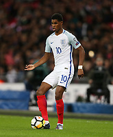 Marcus Rashford of England<br /> <br /> Photographer Rob Newell/CameraSport<br /> <br /> FIFA World Cup Qualifying - European Region - Group F - England v Slovenia - Thursday 5th October 2017 - Wembley Stadium - London<br /> <br /> World Copyright &copy; 2017 CameraSport. All rights reserved. 43 Linden Ave. Countesthorpe. Leicester. England. LE8 5PG - Tel: +44 (0) 116 277 4147 - admin@camerasport.com - www.camerasport.com