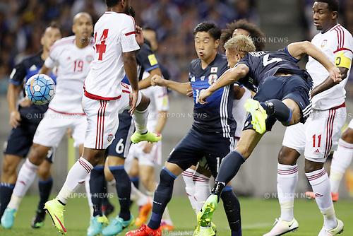 Keisuke Honda (JPN), SEPTEMBER 1, 2016 - Football / Soccer :<br /> FIFA World Cup Russia 2018 Asian Qualifier<br /> Final Round Group B<br /> between Japan - United Arab Emirates<br /> at Saitama Stadium 2002, Saitama, Japan.<br /> (Photo by Yusuke Nakanishi/AFLO SPORT)