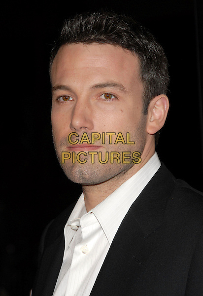 BEN AFFLECK.The Universal Pictures' World Premiere of Smokin' Aces held at The Grauman's Chinese Theatre in Hollywood, California on.January 18th, 2007.headshot portrait .CAP/DVS.©Debbie VanStory/Capital Pictures