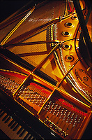 Inside view, Steinway piano