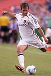 July 14 2007:  Ritchie Kotschau (6) of Real Salt Lake prepares to send the ball into the box.  The MLS Kansas City Wizards defeated the visiting Real Salt Lake 1-0 at Arrowhead Stadium in Kansas City, Missouri, in a regular season league soccer match.