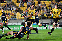 Hurricanes&rsquo; Liam Mitchell in action during the Super Rugby - Hurricanes v Highlanders at Westpac Stadium, Wellington, New Zealand on Friday 8 March 2019. <br /> Photo by Masanori Udagawa. <br /> www.photowellington.photoshelter.com