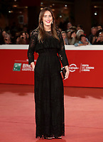 Maria Elena Boschi posa sul red carpet per la presentazione del suo film 'Irishman' alla 14^ Festa del Cinema di Roma all'Aufditorium Parco della Musica di Roma, 21 ottobre 2019.<br /> Maria Elena Boschi, member of Italia Viva party, poses on the red carpet to present his movie 'Irishman' during the 14^ Rome Film Fest at Rome's Auditorium, on 21 October 2019.<br /> UPDATE IMAGES PRESS/Isabella Bonotto