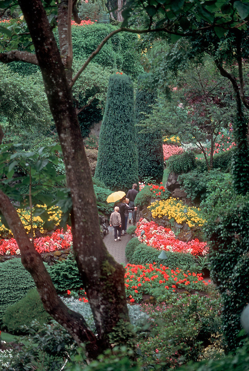 Buchart Gardens, Victoria, Celebrated private gardens on Vancouver Island, British Columbia, Canada.