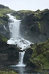 .Chute d Ofaerufoss. Islande.
