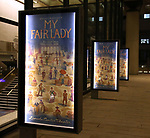 Theatre Marquee for the Broadway Opening Night Celebration for 'My Fair Lady' at the Vivian Beaumont Theatre on April 19, 2018 in New York City.