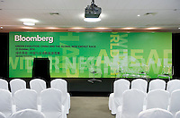 Set-up for Bloomberg Forum 'Green Evolution: China and the Global New Energy Race' takes place in the USA Pavilion, in Shanghai World Expo 2010, China, on October 21, 2010. Photo by Lucas Schifres/Pictobank