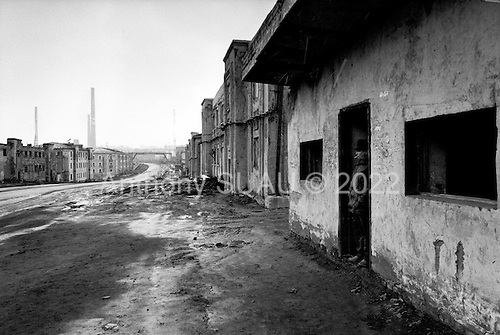 Norilsk, Russia  .May-June 1997.The bleak and harsh conditions of life in the nickel mining city of Norilsk. Norilskiy Nickel is a Joint Stock Company which mines the lands vast nickel reserves. The city was first established as a gulag..