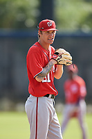 Washington Nationals pitcher Hayden Howard (51) doing pitching drills before a Minor League Spring Training game against the Miami Marlins on March 28, 2018 at FITTEAM Ballpark of the Palm Beaches in West Palm Beach, Florida.  (Mike Janes/Four Seam Images)