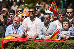Supporters attend 2014 Spain Armed Forces Day in Madrid, Spain. June 08, 2013. (ALTERPHOTOS/Victor Blanco)