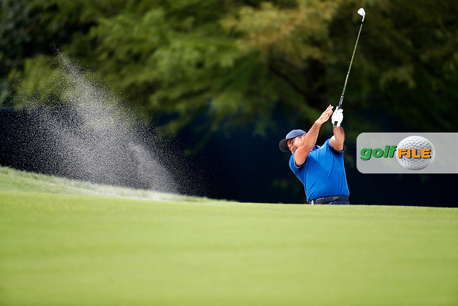 Jason Day (AUS) plays the 8th hole during the 1st round of the 100th PGA Championship at Bellerive Country Club, St. Louis, Missouri, USA. 8/9/2018.<br /> Picture: Golffile.ie   Brian Spurlock<br /> <br /> All photo usage must carry mandatory copyright credit (© Golffile   Brian Spurlock)