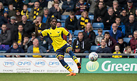 Isaac Buckley-Ricketts (on loan from Manchester City) of Oxford United during the Sky Bet League 1 match between Oxford United and Oldham Athletic at the Kassam Stadium, Oxford, England on 7 April 2018. Photo by Andy Rowland.