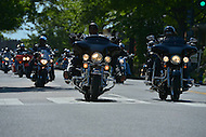 May 26, 2013  (Washington, DC)  Motorcyclists ride thru the street of the District of Columbia for Buffalo Thunder on May 26, 2013. The ride honors the service of black soldiers.  (Photo by Don Baxter/Media Images International)