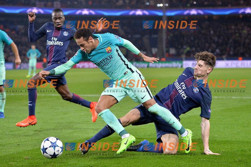 14 BLAISE MATUIDI (psg) - 12 THOMAS MEUNIER (psg) - 11 Neymar (bar)<br /> Parigi 14-02-2017 Parco dei Principi <br /> Paris Saint Germain - Barcellona Champions League 2016/2017 <br /> Foto Anthony BIBARD / FEP / Panoramic / Insidefoto